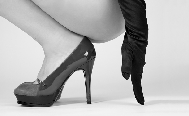 Akt, Nude , Shoe and Glove , People , © Thomas-Sievert.de