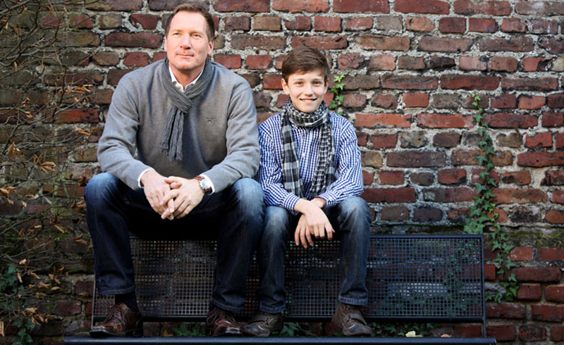 People , Father and Son , Bench , © Thomas-Sievert.de